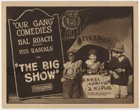 1y047 BIG SHOW title lobby card '23 Sunshine Sammy & Our Gang members, Hal Roach's Little Rascals!