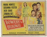 1y052 BOWERY TO BROADWAY title card '44 sexy Maria Montez, Jack Oakie, Susanna Foster, Turhan Bey