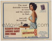 1y056 BUTTERFIELD 8 TC '60 callgirl Elizabeth Taylor is the most desirable and easiest to find!