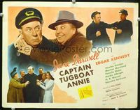 1y058 CAPTAIN TUGBOAT ANNIE title card '45 great romantic close up of Jane Darwell & Edgar Kennedy!