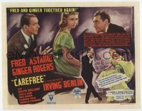 1y060 CAREFREE title card '38 Fred Astaire & Ginger Rogers dancing together again, Irving Berlin