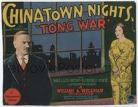 1y065 CHINATOWN NIGHTS TC '29 William Wellman, Florence Vidor, Wallace Beery ends major Tong War!