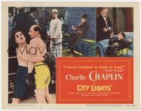 1y067 CITY LIGHTS TC R50 images of Charlie Chaplin boxing, in rich man's house, and with flower!