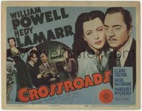 1y074 CROSSROADS title card '42 great close up of William Powell & sexy Hedy Lamarr, Basil Rathbone