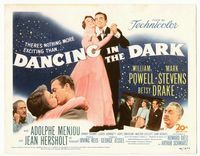 1y079 DANCING IN THE DARK movie title lobby card '49 William Powell, Betsy Drake, Mark Stevens