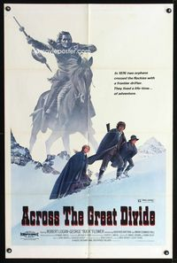 2c041 ACROSS THE GREAT DIVIDE one-sheet movie poster '77 Ralph McQuarrie Native American art!