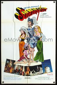 2c063 AMOROUS ADVENTURES OF DON QUIXOTE & SANCHO PANZA one-sheet '76 sexy cartoon art by L. Salk!