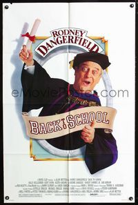2c090 BACK TO SCHOOL one-sheet movie poster '86 Rodney Dangerfield goes to college with his son!