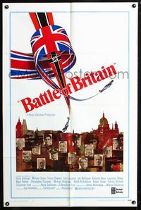 2c104 BATTLE OF BRITAIN style B one-sheet poster '69 all-star cast in classic World War II battle!