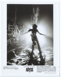 2d027 ABYSS 8x10 still '89 cool image of Mary Elizabeth Mastrantonio in scuba diver suit underwater!