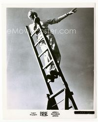 2d005 BIBLE candid 8x10 still '67 director John Huston directing high atop a ladder on the set!