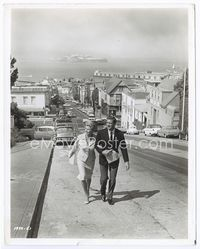 2d043 GATHERING OF EAGLES 8x10 candid still 1963 Rod Taylor & Mary Peach on San Francisco street!