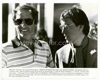2d008 BLACK MARBLE candid 8x10 '80 author Joseph Wambaugh & James Woods on the set of the movie!