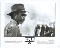 2d009 BOPHA candid 8x10 '93 close up of director Morgan Freeman wearing cool shades and fedora!