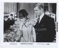 2d051 BREAKFAST AT TIFFANY'S 8.25x10 '61 Audrey Hepburn & George Peppard see jewelry at famed store