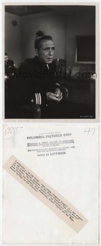 2d053 CAINE MUTINY 8x10 still '54 Humphrey Bogart close up testifying with his marbles by Lippman!