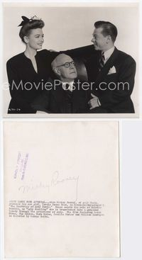 2d063 COURTSHIP OF ANDY HARDY 8x9.5 '42 Mickey Rooney, Donna Reed & Lewis Stone by Clarence Bull!