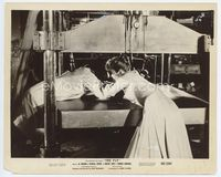 2d076 FLY 8x10 movie still '58 Patricia Owens tries to pull Al Hedison from huge press machine!