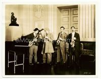 2d022 MONKEY BUSINESS candid 8x10.25 '31 all four Marx Brothers, Groucho, Chico, Harpo & Zeppo!