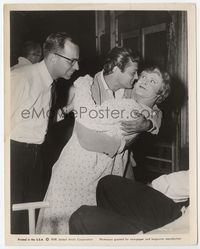 2d025 SOME LIKE IT HOT candid 8x10 still '59 Tony Curtis hugging Jack Lemmon in full drag as Daphne!