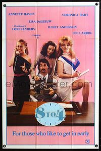 2e026 8 TO 4 one-sheet '81 wacky sex spoof of 9 to 5, Annette Haven, Veronica Hart!, Lisa DeLeeuw