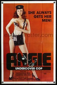 2e038 ANGIE UNDERCOVER COP 1sh '80 Samantha Fox is the naked police woman who always gets her man!