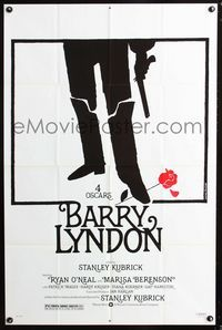 2e049 BARRY LYNDON one-sheet movie poster '75 Stanley Kubrick, cool artwork by Jouineau Bourduge!