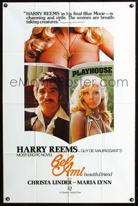 2e052 BEL AMI one-sheet '76 Harry Reems in European sex movie from Guy de Maupassant's erotic novel!