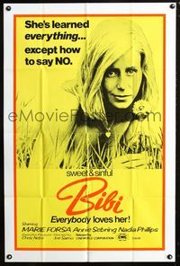 2e055 BIBI one-sheet '74 Joe Sarno, sexy Maria Forsa learned everything, except how to say NO!