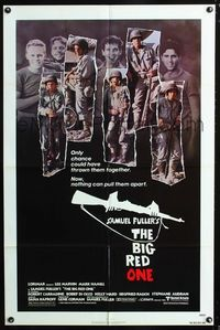2e057 BIG RED ONE one-sheet poster '80 directed by Samuel Fuller, montage of Lee Marvin & stars!