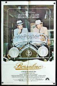 2e070 BORSALINO 1sh '70 Jean-Paul Belmondo & Alain Delon in Rolls Royce, directed by Jacques Deray!