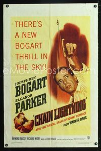 2e080 CHAIN LIGHTNING one-sheet poster '49 great artwork of military test pilot Humphrey Bogart!