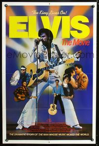 2e005 ELVIS style B int'l 1sh '79 Kurt Russell as Presley, directed by John Carpenter, rock & roll!