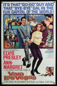 2e002 VIVA LAS VEGAS 1sh '64 many artwork images of Elvis Presley & sexy Ann-Margret!