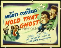2n027 HOLD THAT GHOST TC '41 great artwork of scared Bud Abbott & Lou Costello, plus sexy babes!