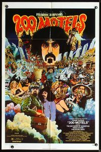 2r024 200 MOTELS one-sheet movie poster '71 Frank Zappa, rock 'n' roll, wild artwork!
