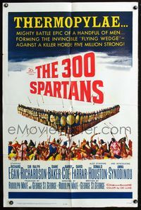 2r030 300 SPARTANS one-sheet movie poster '62 Richard Egan, the mighty battle of Thermopylae!