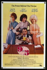2r031 9 TO 5 one-sheet movie poster '80 great image of Dolly Parton, Jane Fonda, and Lily Tomlin!
