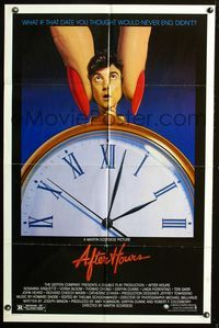 2r038 AFTER HOURS style B one-sheet '85 Martin Scorsese, Rosanna Arquette, great art by Mattelson!