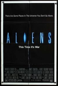 2r049 ALIENS one-sheet '86 James Cameron, there are some places in the universe you don't go alone!