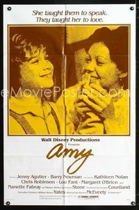 2r059 AMY one-sheet poster '81 Jenny Agutter teaches deaf kids to speak, they taught her to love!