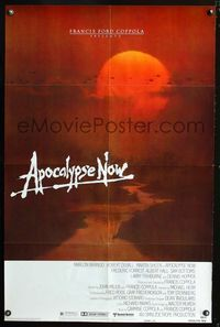 2r070 APOCALYPSE NOW advance 1sheet '79 Francis Ford Coppola, Bob Peak art of helicopters at sunset!