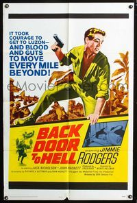 2r076 BACK DOOR TO HELL one-sheet movie poster '64 the code was live, love, and kill like an animal!