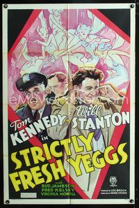 2r008 STRICTLY FRESH YEGGS 1sh '34 directed by George Stevens, art of Tom Kennedy & sexy deco girls