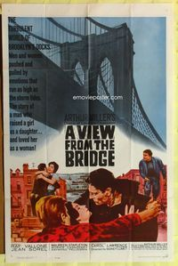 2r931 VIEW FROM THE BRIDGE 1sh '62 Raf Vallone, Arthur Miller's towering drama of love & obsession!