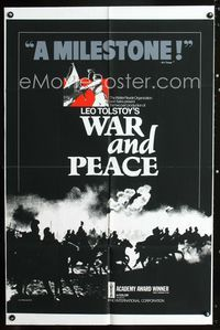 2r943 WAR & PEACE one-sheet movie poster R70s cool completely different design by Donn Trethewey!