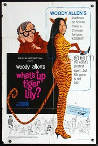 2r952 WHAT'S UP TIGER LILY one-sheet '66 wacky Woody Allen Japanese spy spoof with dubbed dialog!