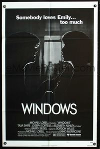 2r966 WINDOWS style A one-sheet movie poster '80 Talia Shire, Joseph Cortese, psycho stalker!