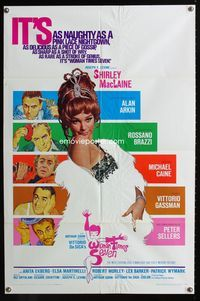 2r973 WOMAN TIMES SEVEN one-sheet movie poster '67 Shirley MacLaine, Peter Sellers