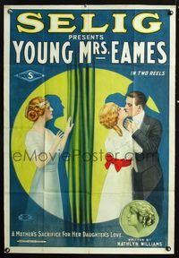 2r001 YOUNG MRS. EAMES 1sheet '13 great stone litho art of man who loves both mother and daughter!